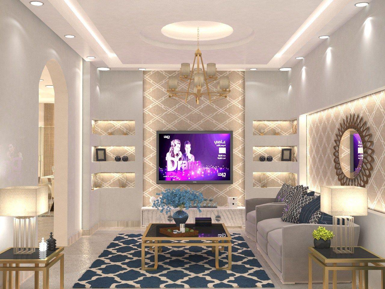 مجالس نساء بازار للتصميم الداخلي و الديكور False Ceiling Living Room Living Hall Design Living Room Colors