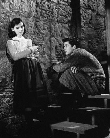 richard beymer and millie perkins on set of quotthe diary of