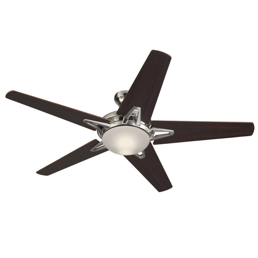 Harbor Breeze Avon 52 In Brushed Nickel Indoor Ceiling Fan With Light Kit Included And Remote Control Included 5 Blade Brushed Nickel Ceiling Fan Ceiling Fan Ceiling Fan Price