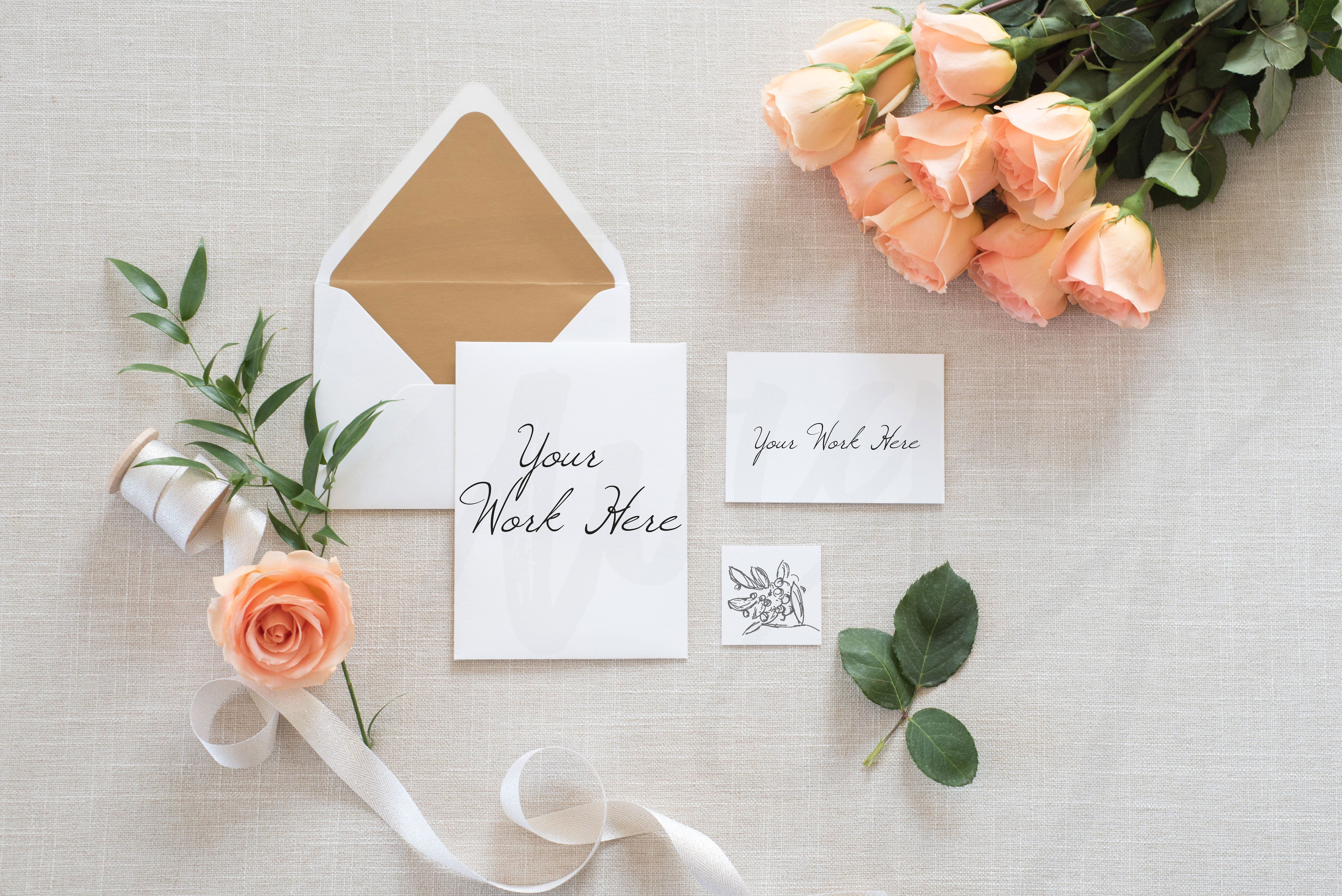 design printable invitation cards online free%0A Y O U A R E I N V I T E D Showcase your beautiful wedding invitations and  designs on these gorgeous mockups  With handy placeholders and plenty of  negative