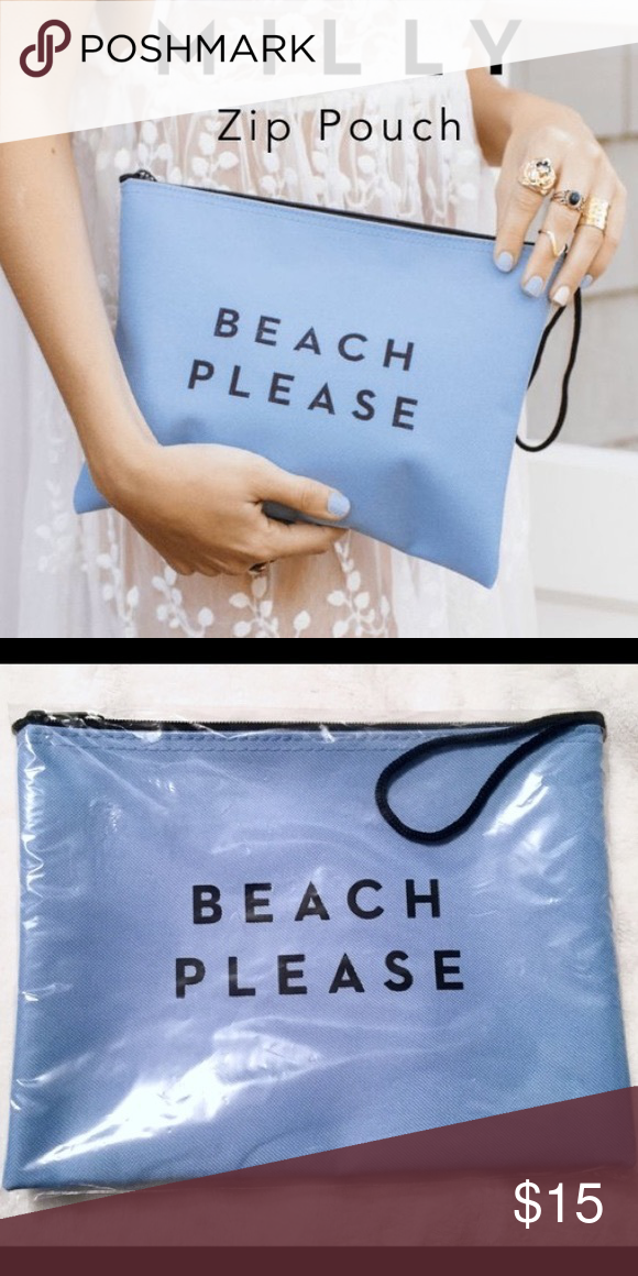 ffa8cc94f6 Swimsuits · Milly Zip Waterproof Bag Zip Pouch. MILLY signature slogan BEACH  PLEASE waterproof pouch with top