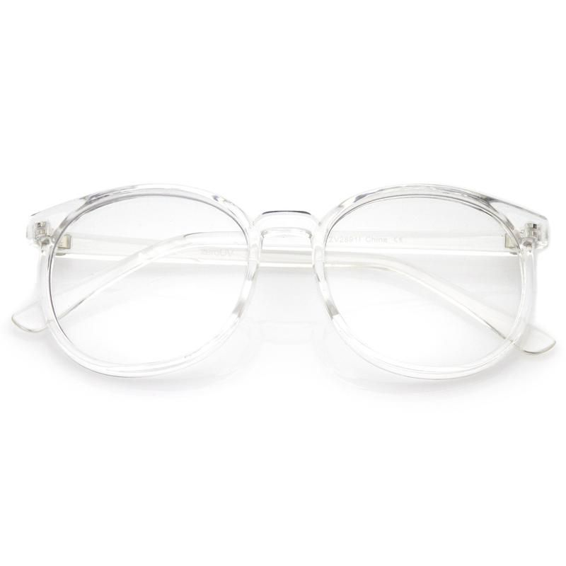 Photo of Retro Indie Dapper Round P3 Clear Lens Glasses C099