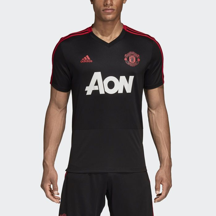 adidas Manchester United Training Jersey Black   adidas US
