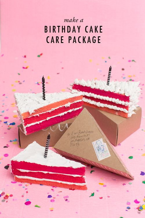 Superb Ombre Birthday Cake Care Package Birthday Packages Birthday Funny Birthday Cards Online Alyptdamsfinfo