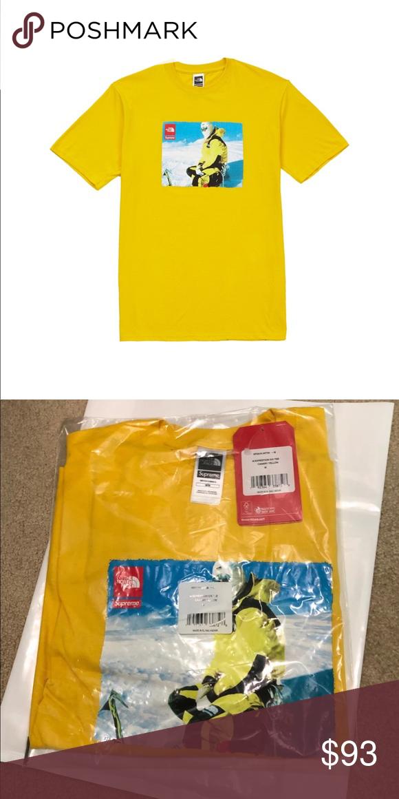 9bc006050 Supreme/The North Face Photo Tee | Color Yellow Supreme/The North Face  Photo Tee | Color Yellow | Condition New | Size Medium Supreme Shirts Tees  - Short ...