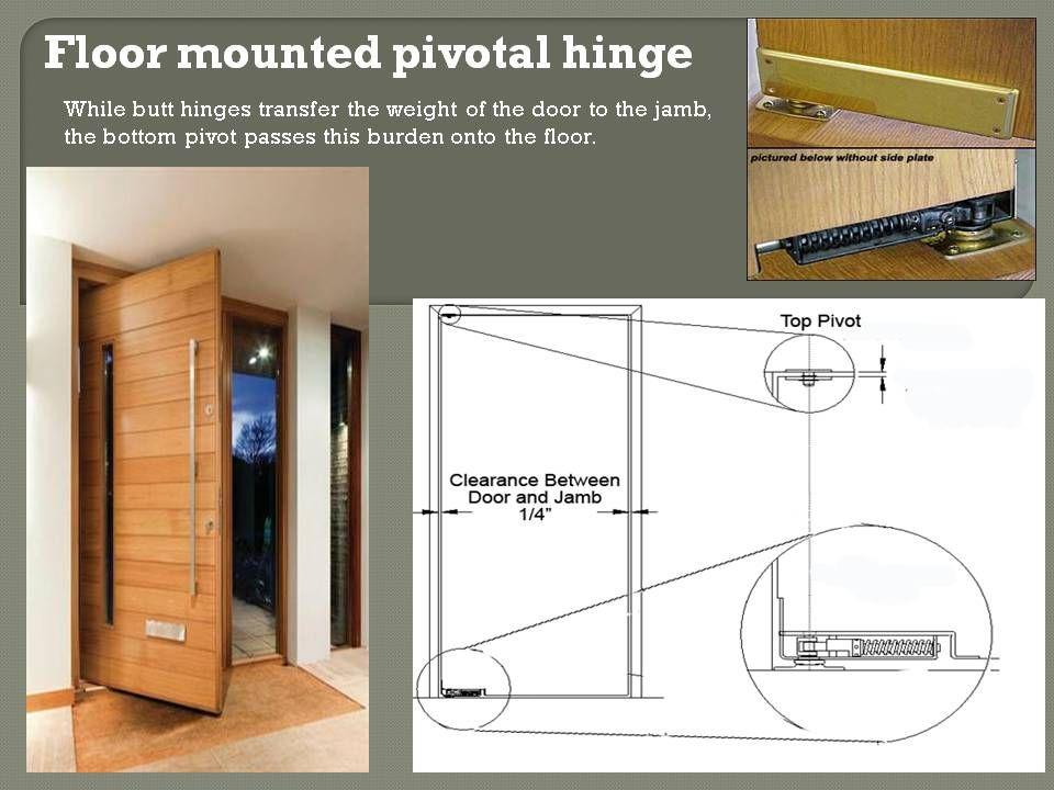 Hanging pivot doors house ideas pinterest pivot - Hinge placement on exterior door ...