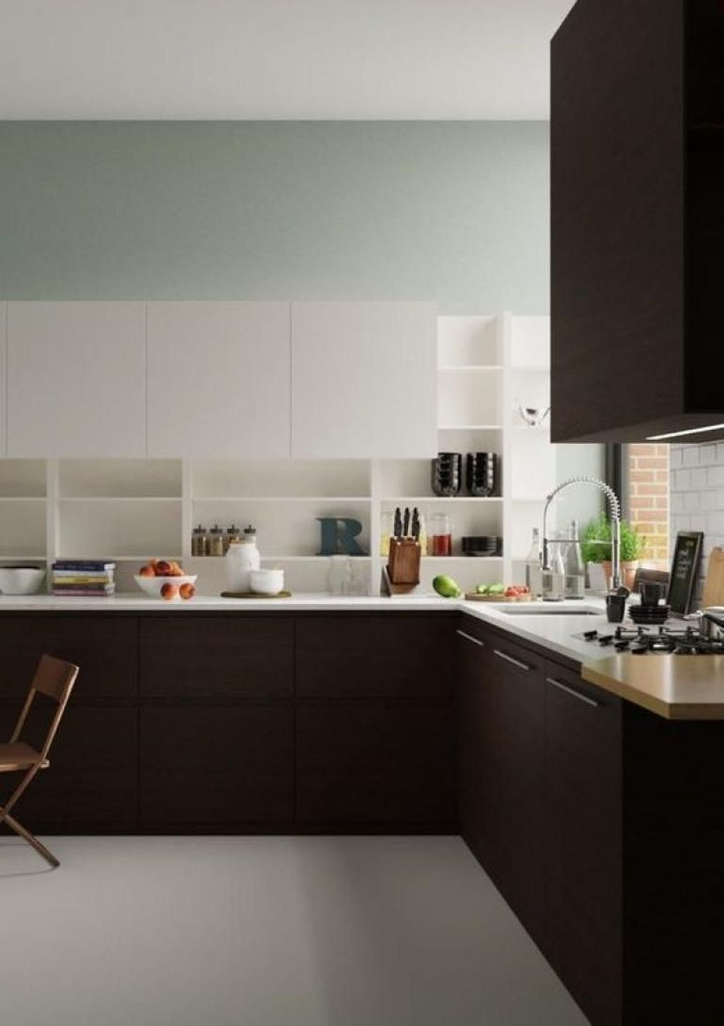 relaxing kitchen cabinet colour combinations ideas to try 01 kitchen cabinets color on kitchen cabinets color combination id=95757
