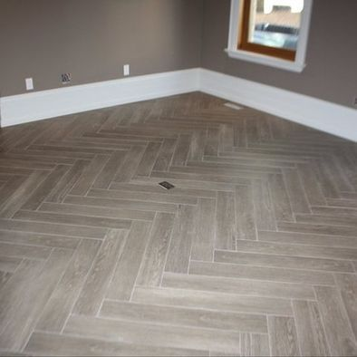 Herringbone Family Room Design Ideas Pictures Remodel And Decor Grey Wood Tile House Flooring Gray Wood Tile Flooring