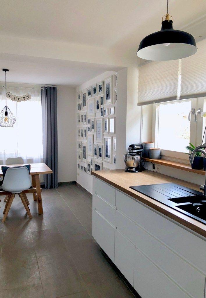 Meine Neue Traumkuche Ikea Kuche Skandinavischer Style Weisse Kuche Weiss Mit Holz Modern Esstisch Ikea Kuche Esstisch Modern Traumkuche