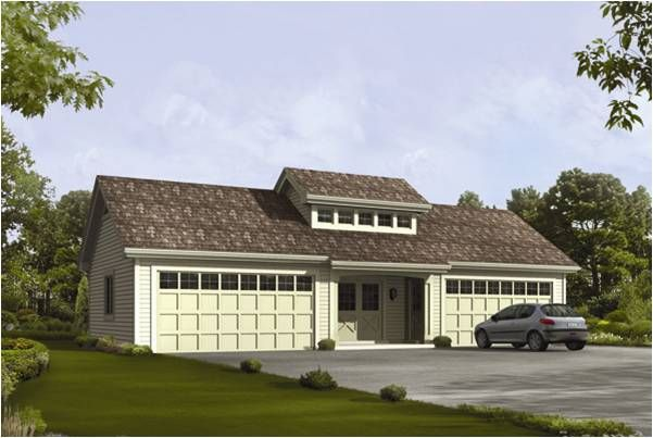 Attached Garage Roof Designs | The Oceanview 4 Car Garage Plans ...