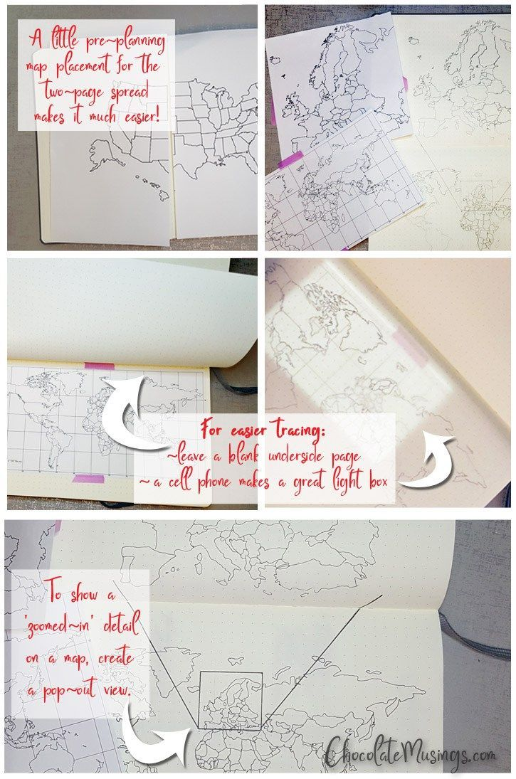Creating A Bullet Journal Map Spread Bullet Journal And Planners - Us travel tracking map