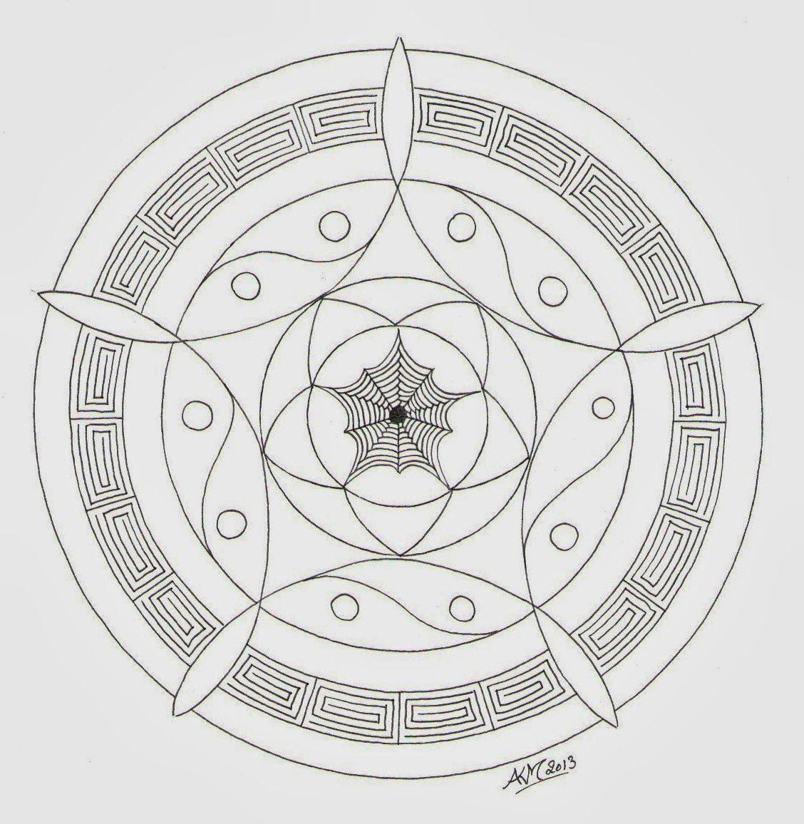 Mandala Atelier Kleurplaten En Templates Kleurplaten Mandala Mandala Tekenen