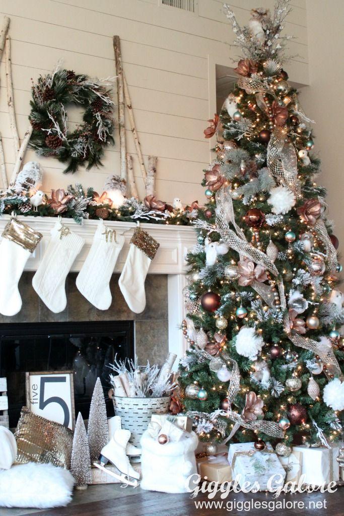 Glam Metallic Farmhouse Christmas Tree Christmas Trees