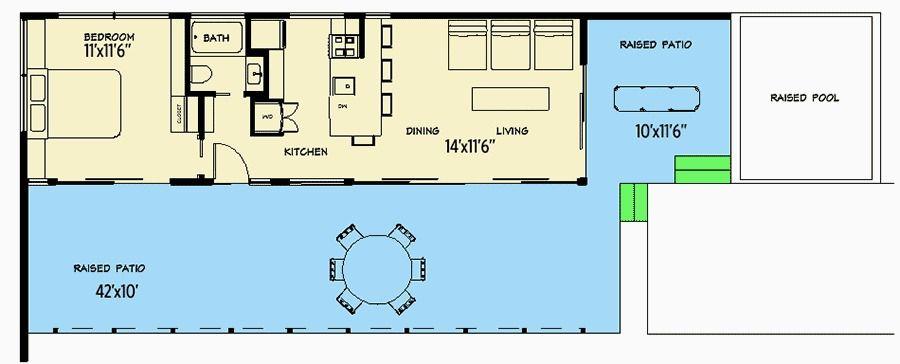 Plan 490001RSK Tiny Modern Beach House Plan Beach house plans