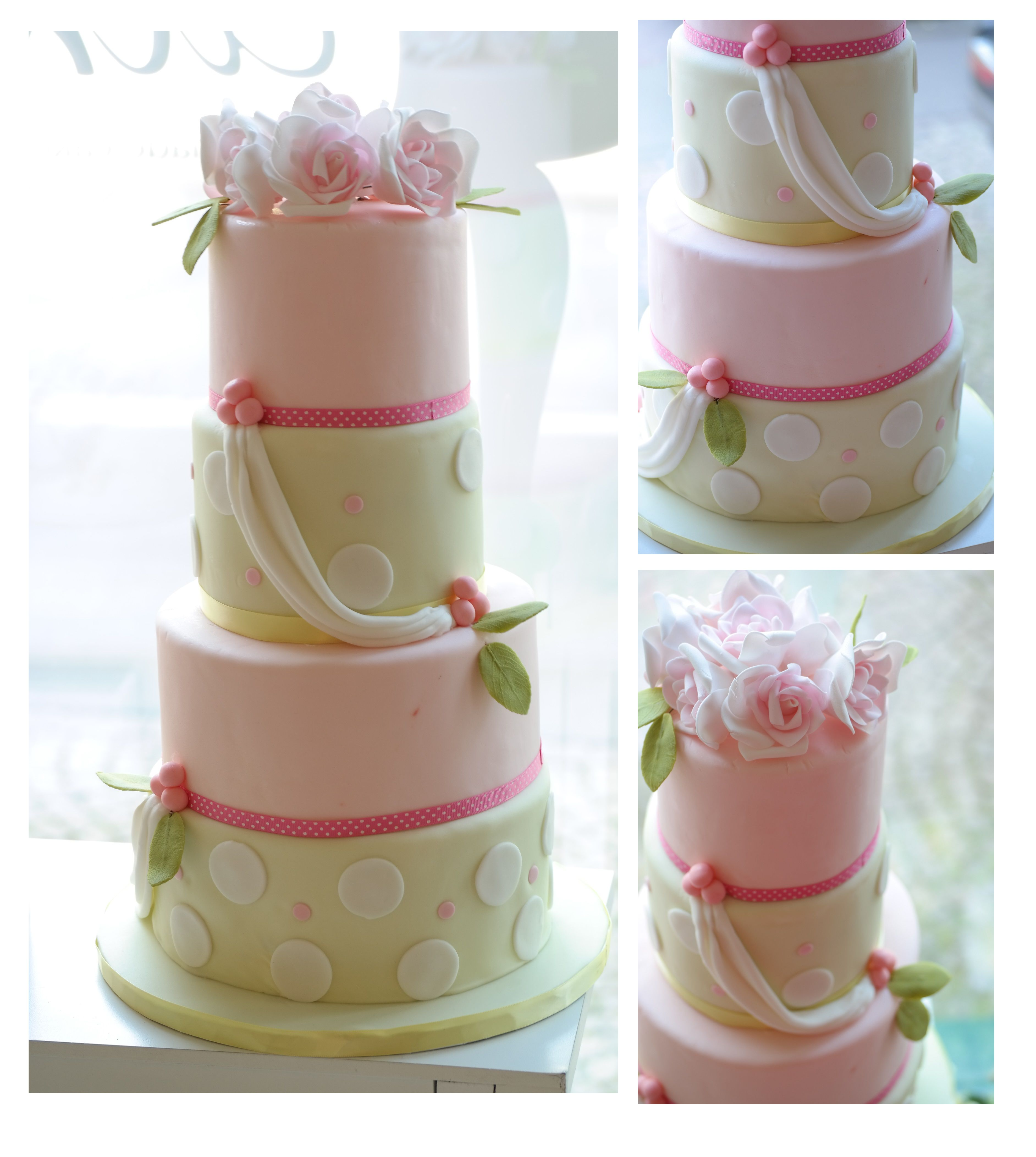 A lovely pastel 4 tier for the Spring from The Cake Lady Zurich