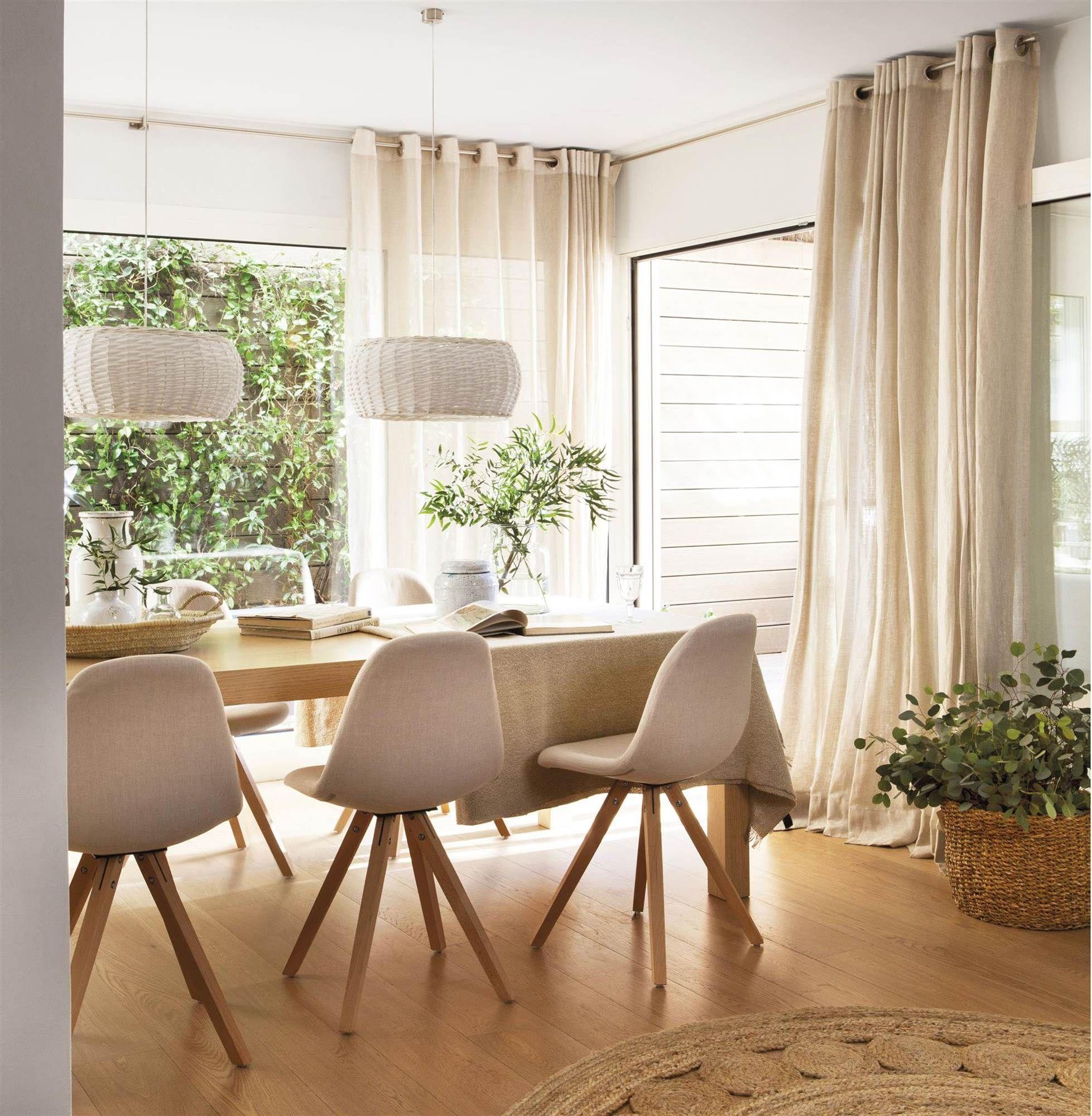 Cortinas blancas hasta el techo_00426453 O | Dining | Pinterest