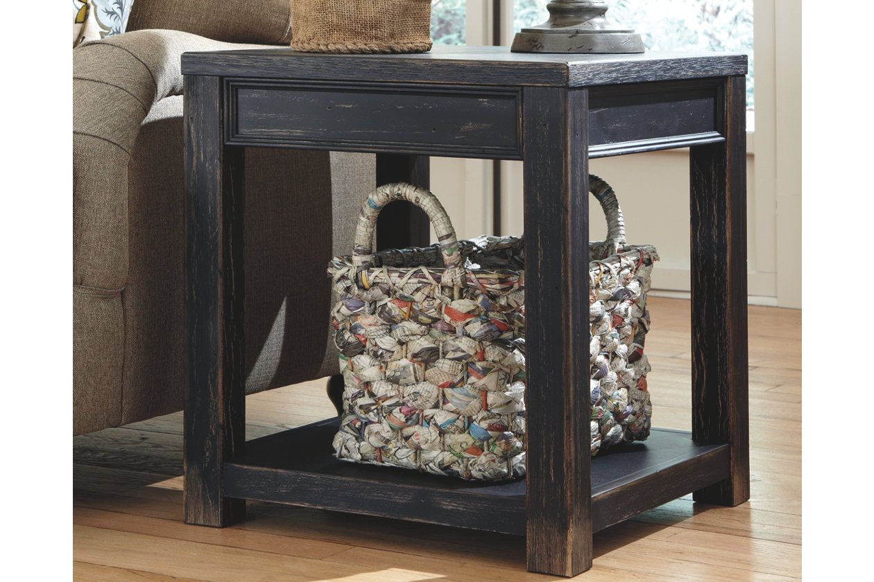 Gavelston End Table Black Black End Tables End Tables Rustic