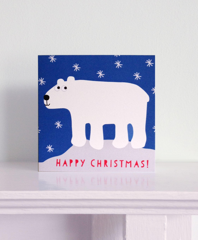 Polar Bear Christmas Card £1.99 | Toby Tiger Christmas Cards ...