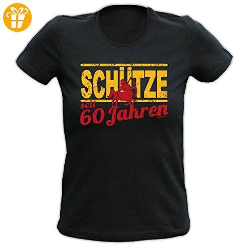 Lady Shirt 60 Jahre Schütze Damen Shirt Geburtstag Geschenk T Shirt