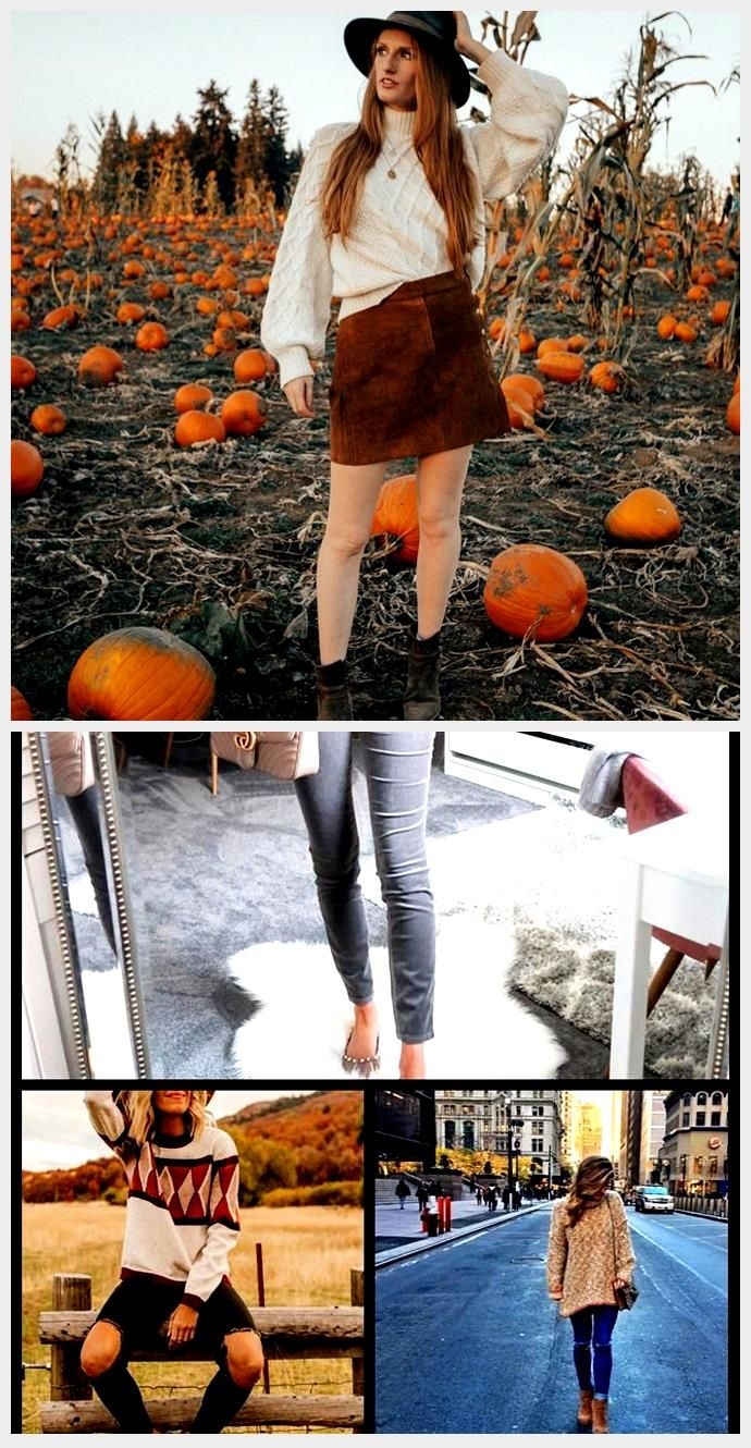 Sweater and Skirt Outfit At The Pumpkin Patch #pumpkinpatchoutfit Sweater and Sk... #pumpkinpatchoutfitwomen