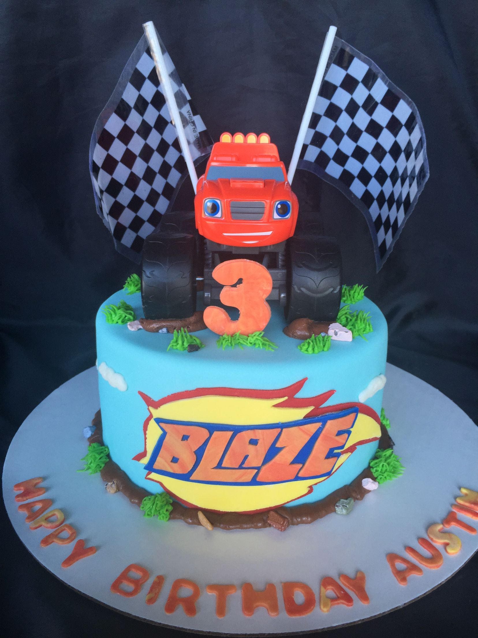 Blaze and the monster machines cake | Cakes | Blaze cakes, Blaze