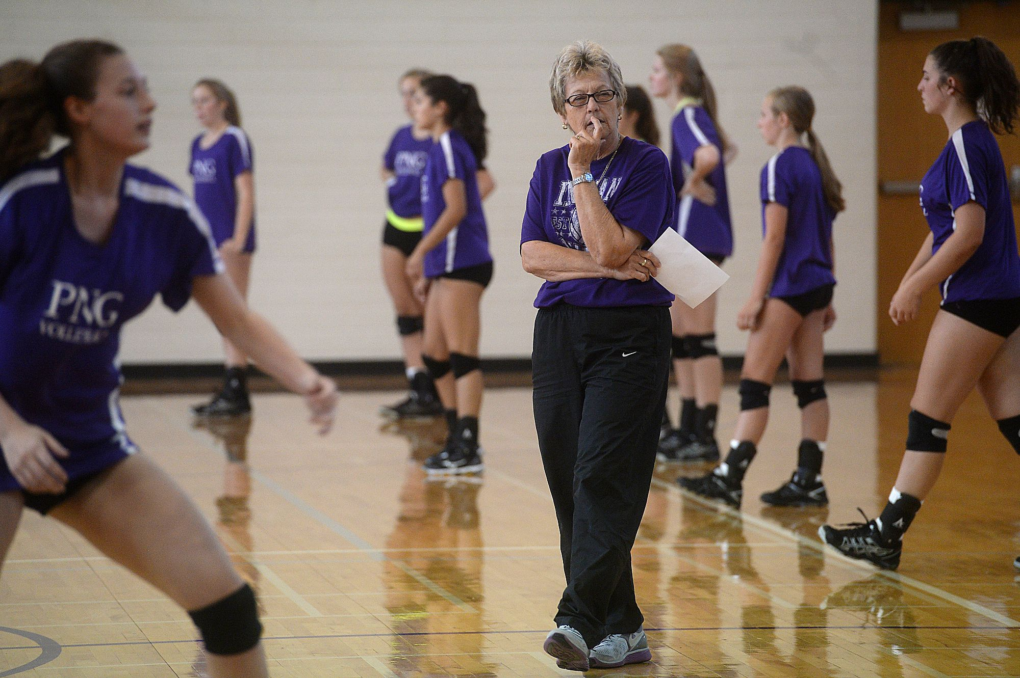 Pn G Volleyball Coach To Be Inducted In Tgca Hall Of Fame Next Week Coaching Volleyball Athletic Events Body Squats
