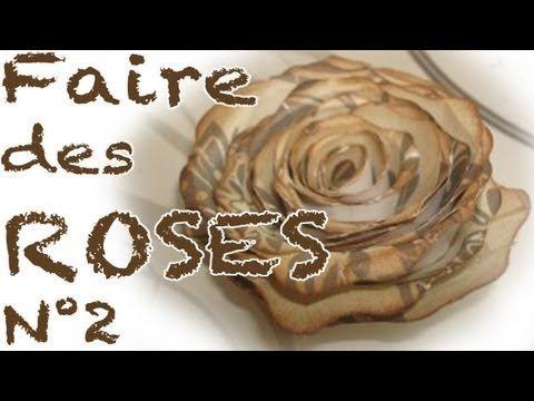 comment faire des roses en papier partie 2 youtube flowers pinterest. Black Bedroom Furniture Sets. Home Design Ideas