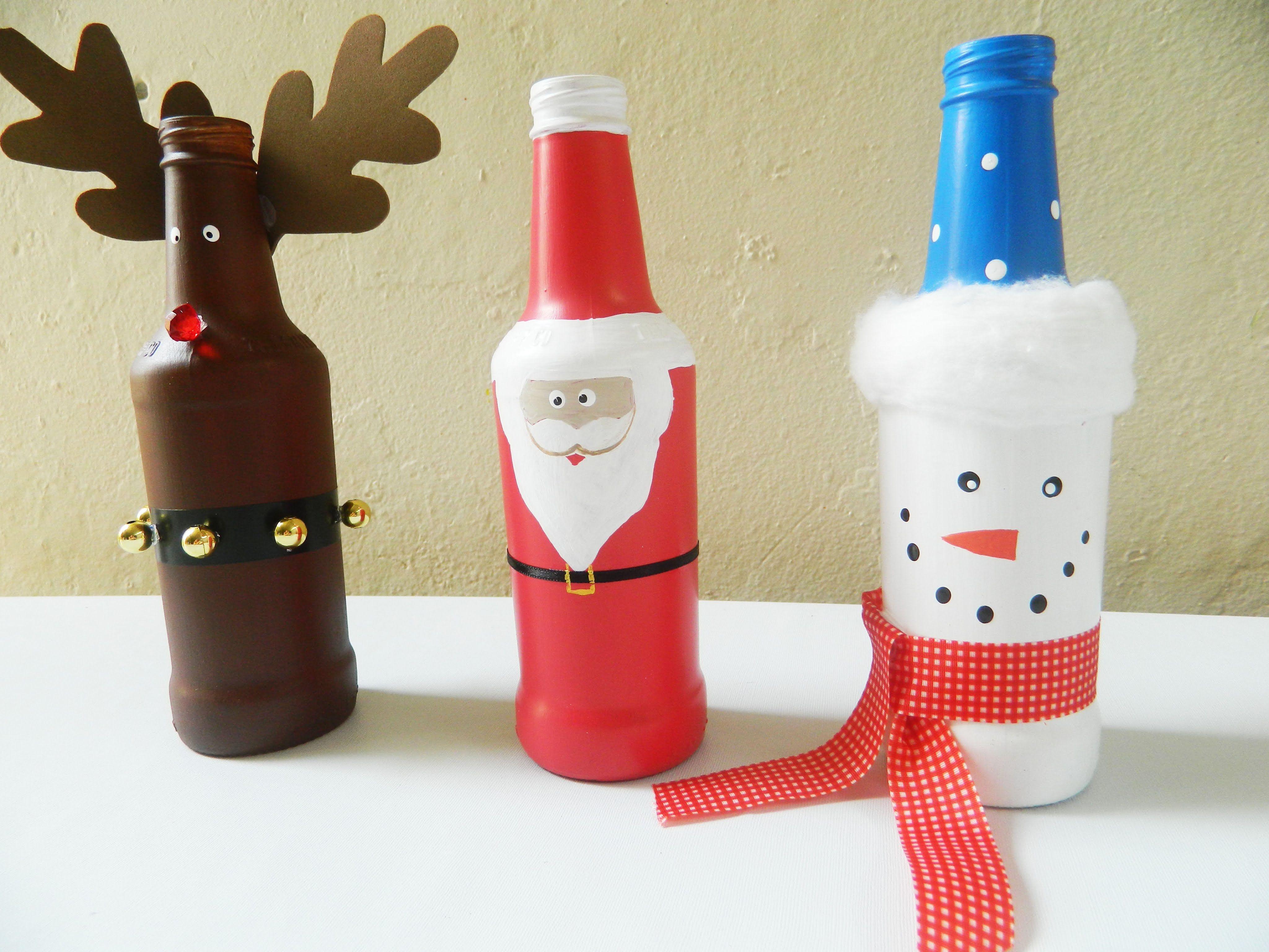 Garrafas Decoradas Para O Natal 2 Creative Craftschristmas