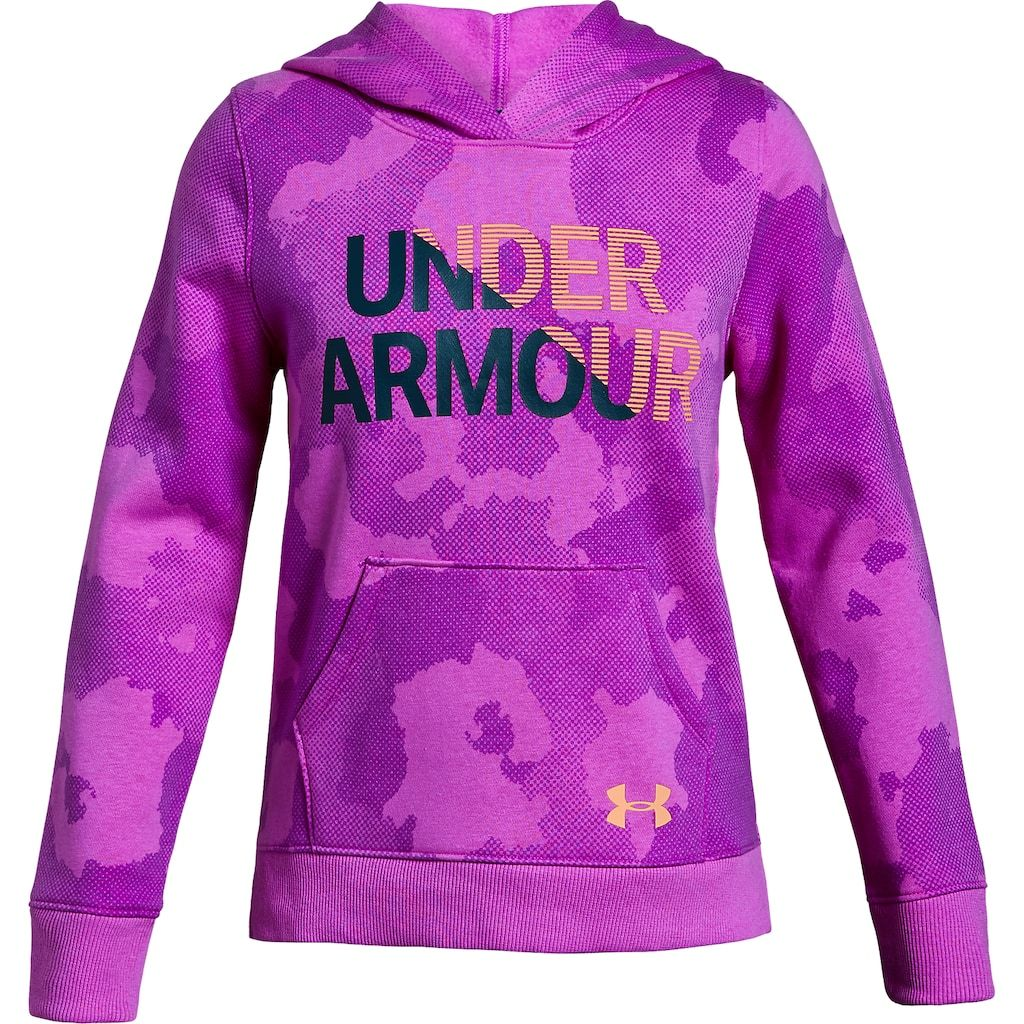 timeless design ab95f 6b0b9 Girls 7-16 Under Armour Girls  Rival Fleece Wordmark Hoodie, Size  Large,  Purple