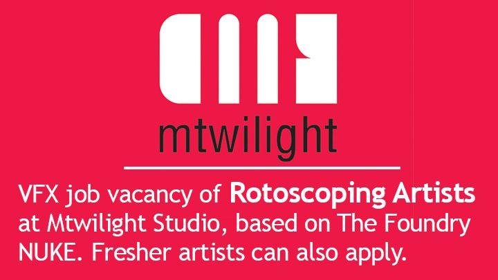 Vfx Roto Job Requirement At Mtwilight Studio Job Studio Retail Logos