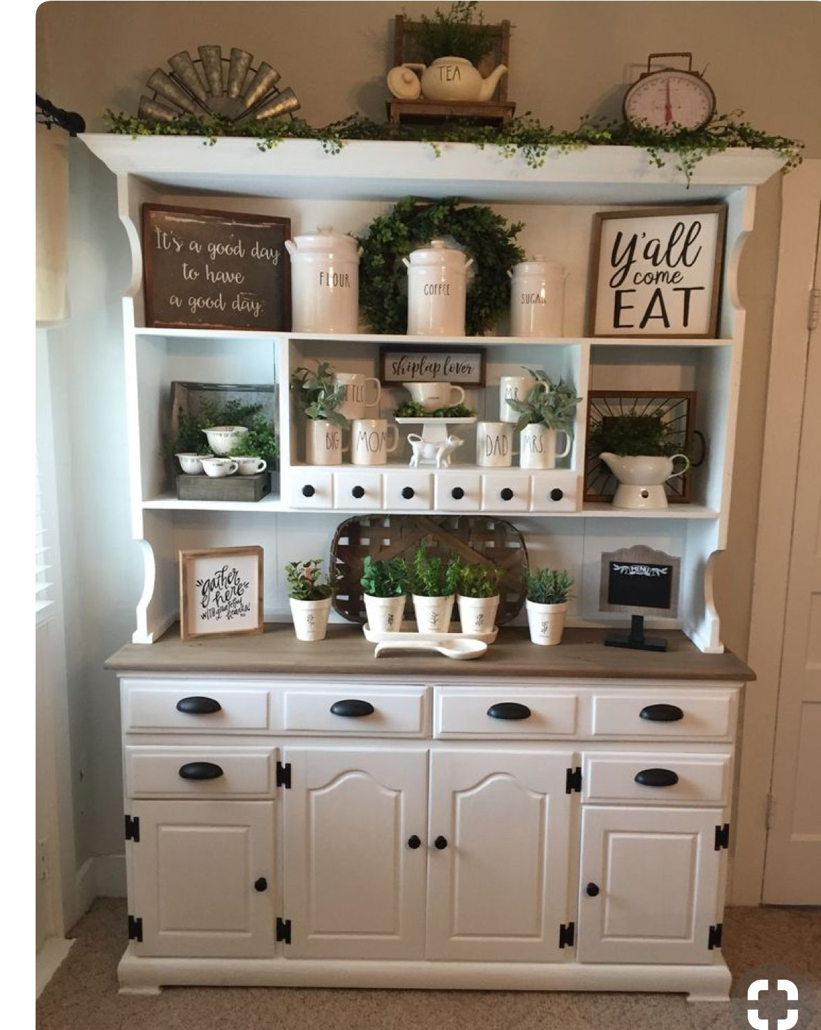 Idea for top of pantry Cottage style kitchen