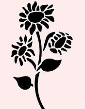 """8/"""" x 8/"""" Summer Flower Stencil DIY Sunflower Crafting XS"""