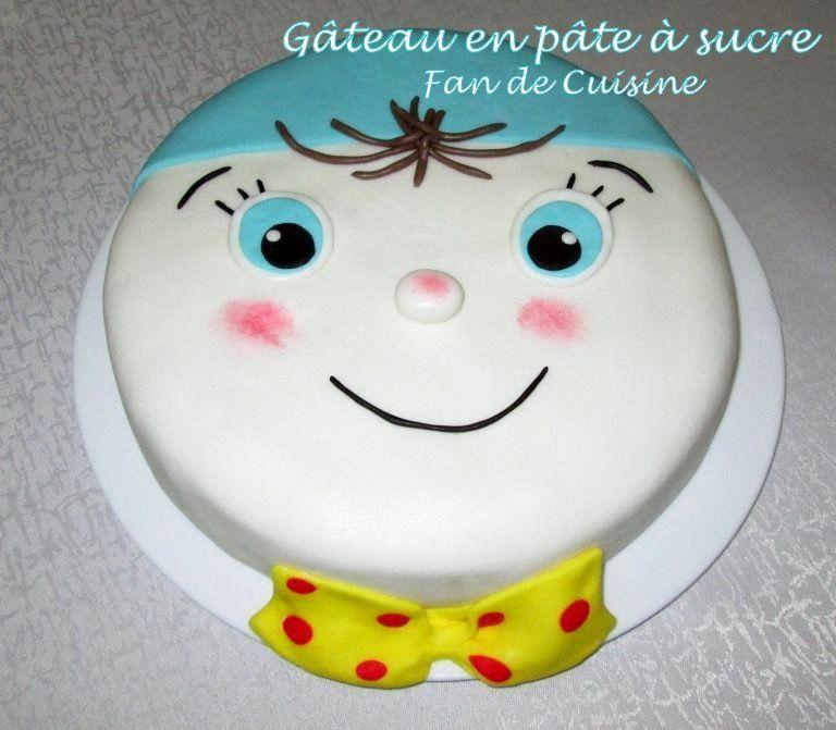 gâteau en pate à sucre