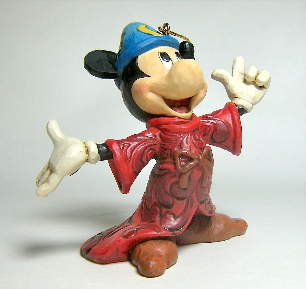 58200968d Mickey Mouse as Fantasia s Sorcerer s Apprentice would spark up anybody s  Christmas tree! MICKEY MOUSE SORCERER S APPRENTICE ORNAMENT (Jim Shore  Disney ...