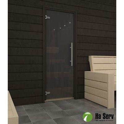 Saunanovi Premium 7x19 harmaa leppä musta