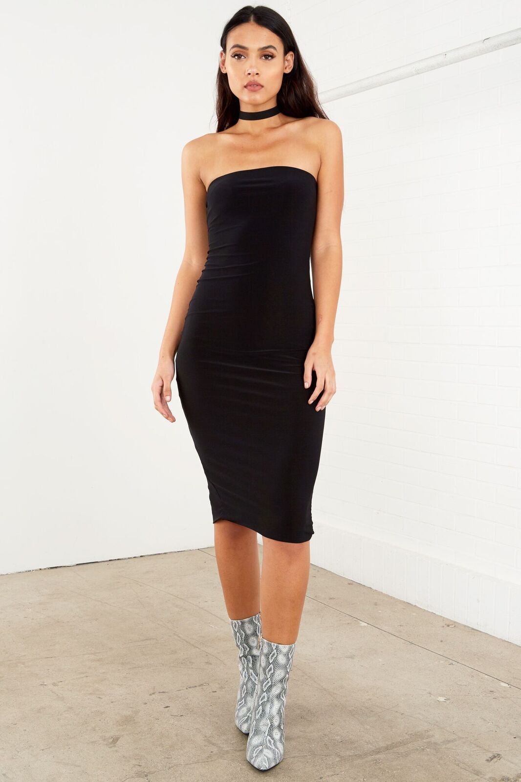 5a67a4dfd3 Strapless Tube Dress Black