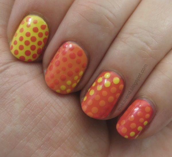 dotticure with four of the hot hues from OPI Brazil collection