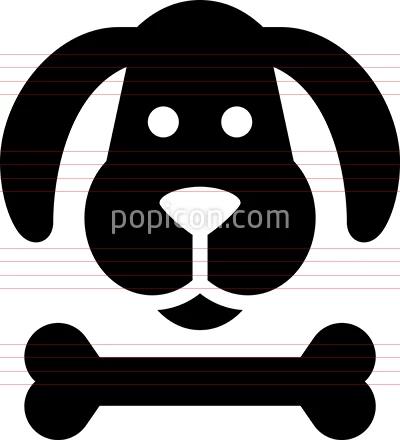 Dog S Head With Bone Vector Icon Animal Icon Icon Vector Icons
