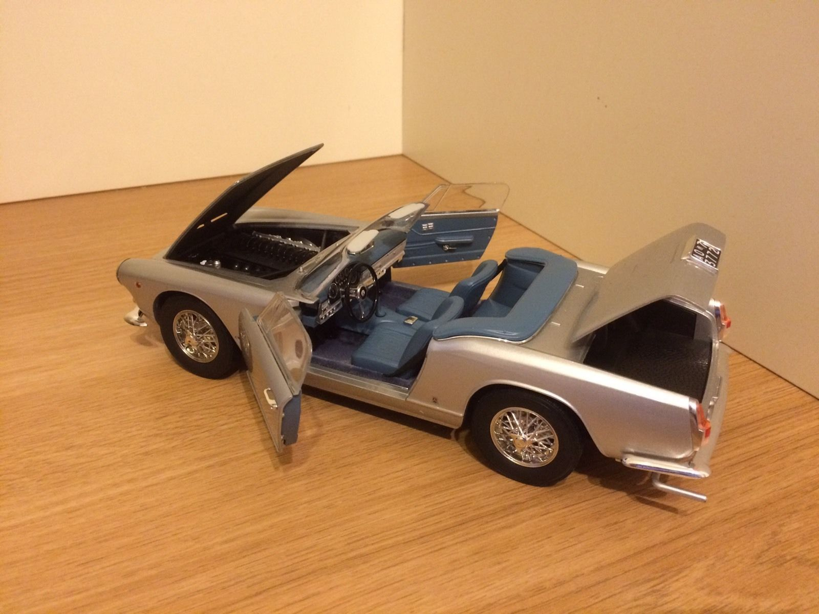 details about 118 maserati 3500gt vignale in silver by ricko rare diecast model car lot
