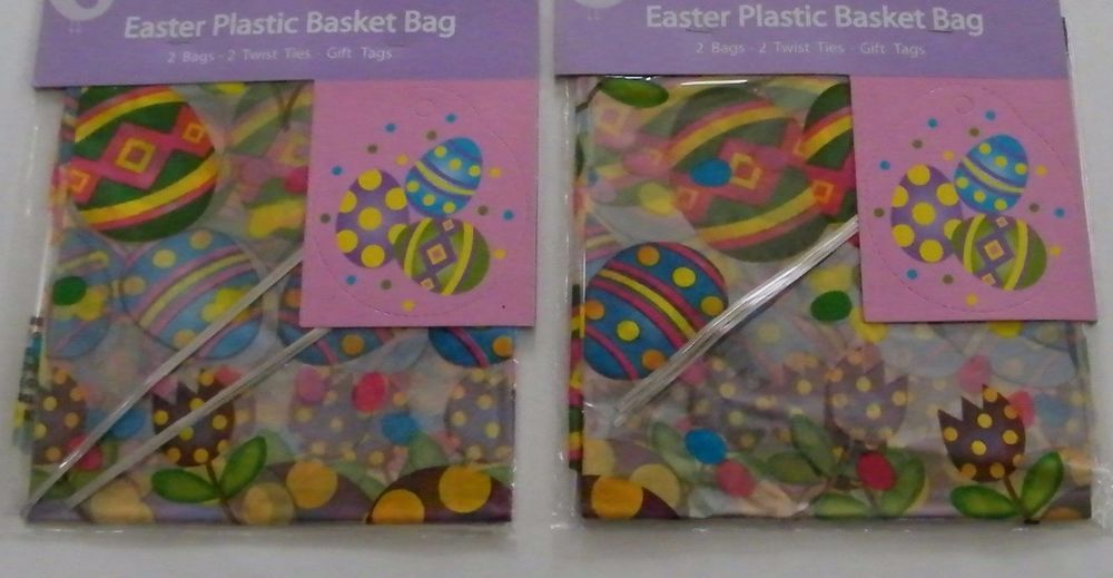 4 large easter plastic bags gift tags colorful eggs decorative 4 large easter plastic bags gift tags colorful eggs decorative basket wraps cvs easter negle Image collections