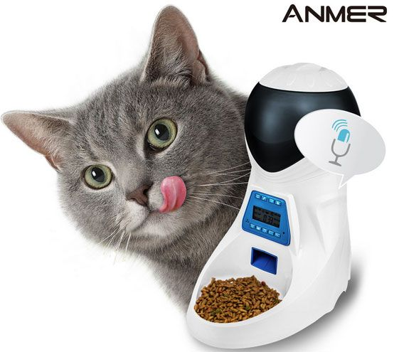 ANMER Automatic Pet Feeder with Voice Reminder Automatic