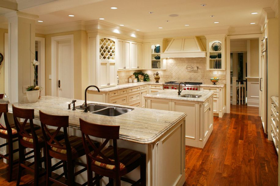 Exquisite Kitchen Remodel Ideas with Beautiful Halogen Lamp: Modern Eco Friendly Kitchen Remodel Ideas Wooden Floor Granite Countertop ~ buyrogue.com Kitchen Designs Inspiration