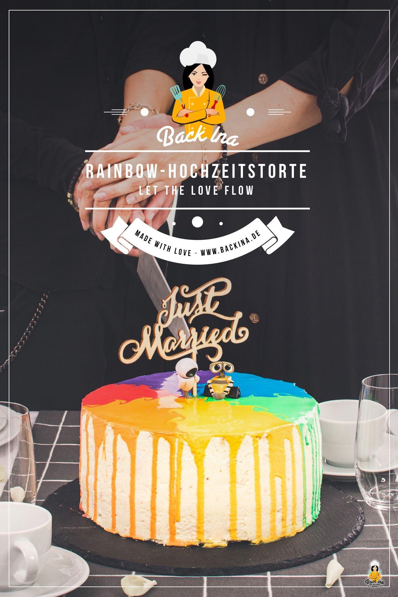 Regenbogen Drip Cake Z B Als Pride Hochzeitstorte Mit Bildern Tropfkuchen Regenbogentorte