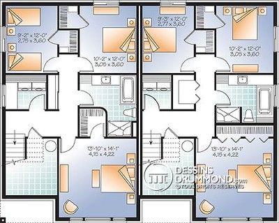 sous-sol plan maisons jumelées House Plans Pinterest Sous sol