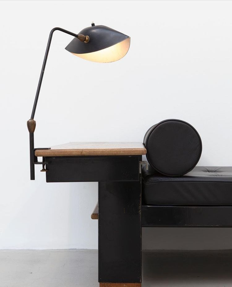 Serge Mouille Desk Lamp 1958 And Jean Prouve Bed Model No 102