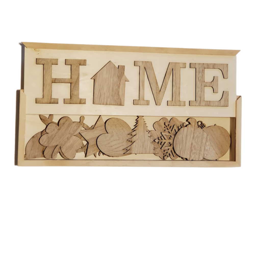 """Photo of Unfinished Natural Pine """"Home"""" Sign For Your DIY – Just The Way You Like It In Fall, Winter, Spring, Summer"""