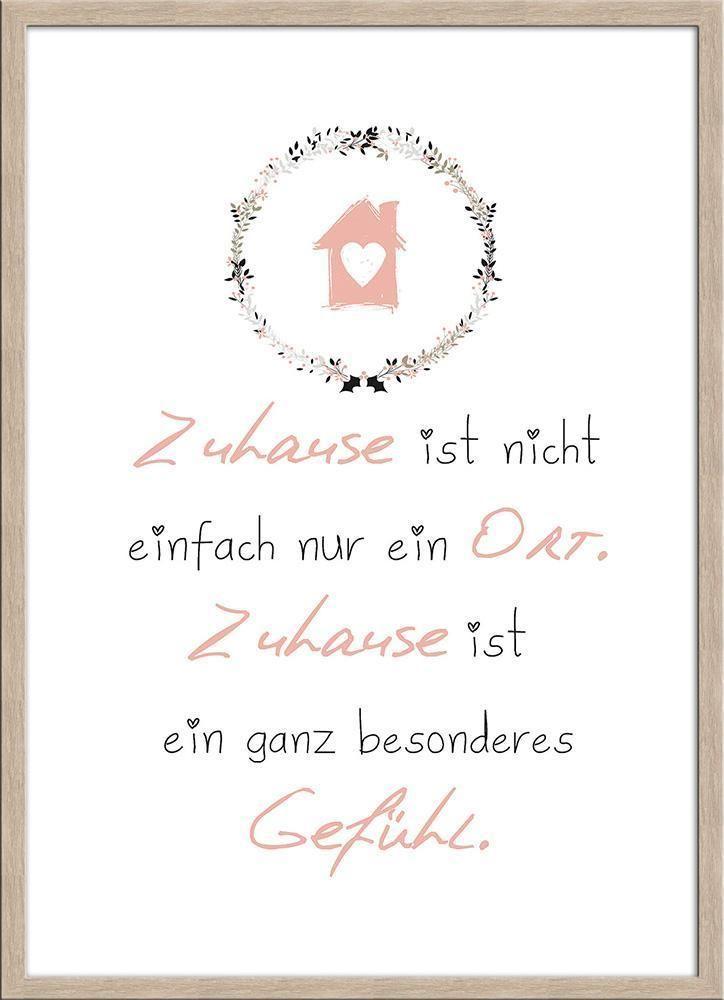 Details zu artissimo Spruch-Bild gerahmt 51x71cm Poster Kunstdruck ...