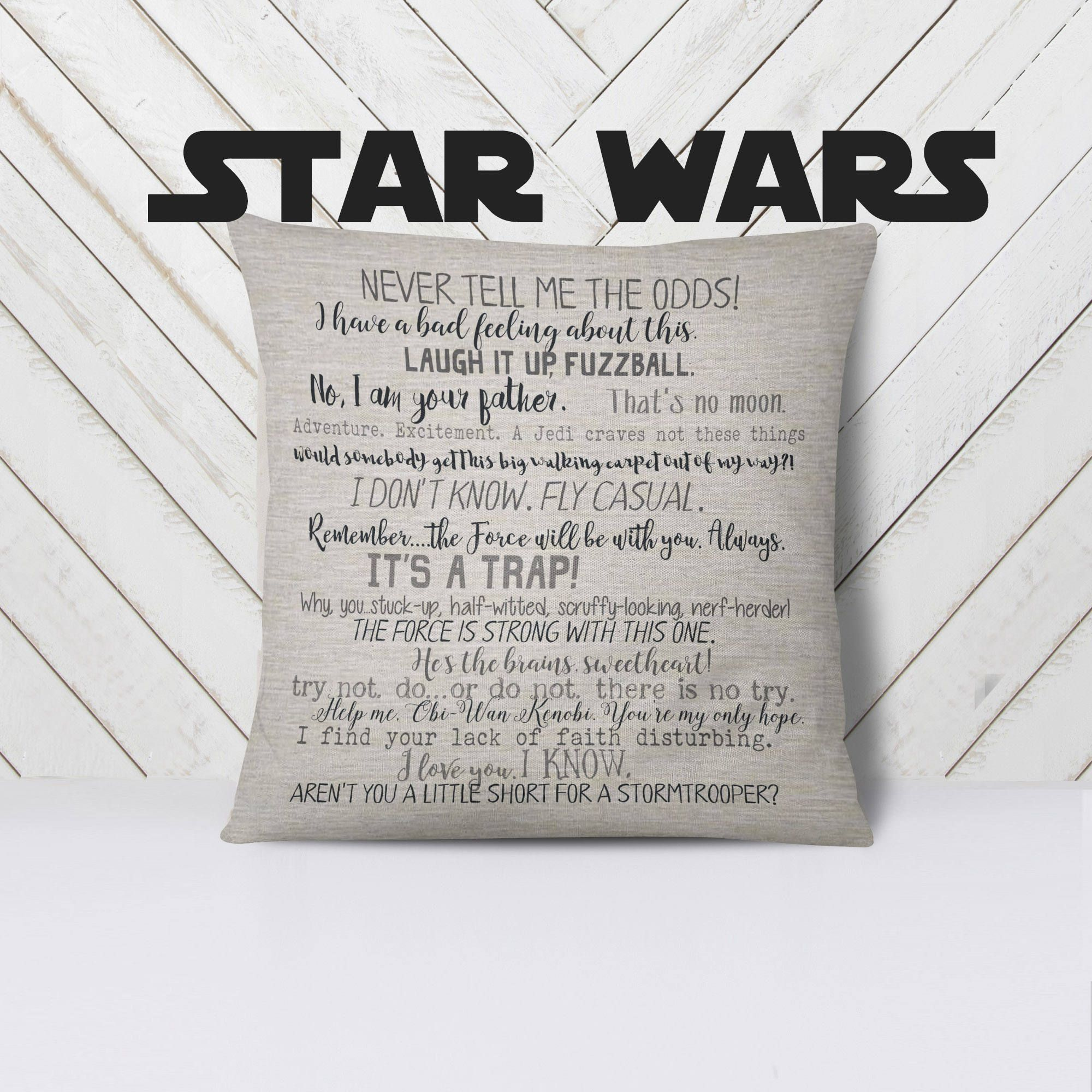 Star Wars Pillow 18x18inch Pillow Cover Movie Quotes Machine