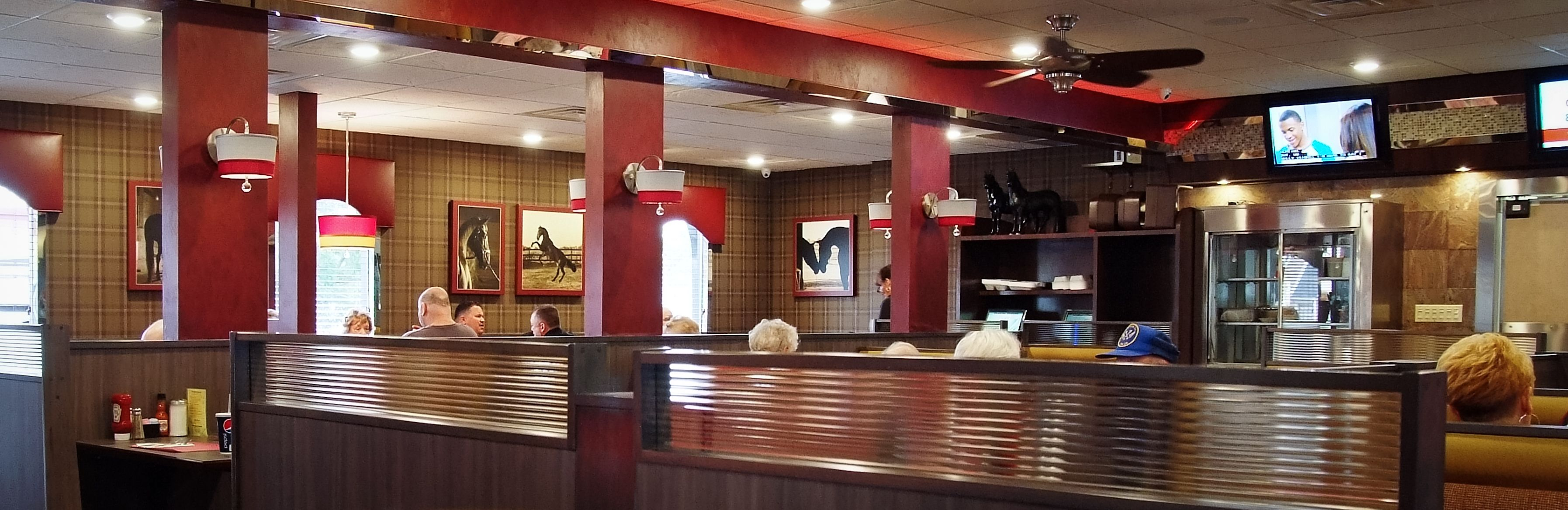 Located On The Black Horse Pike In Mt Ephraim Nj The Black Horse Diner Has Quite The Equestrian Feel Custom Photography From Commercial Design Design Diner