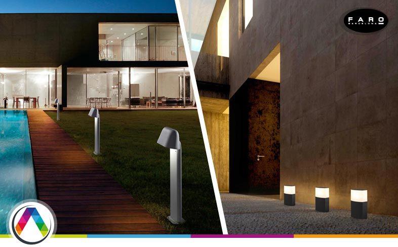 Consejos en iluminación exterior del jardín, porche o terraza - La